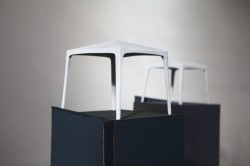 Ungefährer Vorschlag – drei stehen Marmor auf Papiersockel  3 x 35x35x27 cm 2013